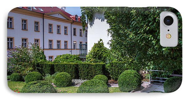 IPhone Case featuring the photograph Prague Courtyards. Regular Style Garden by Jenny Rainbow