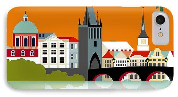 Prague Czech Republic Horizontal Scene IPhone Case by Karen Young