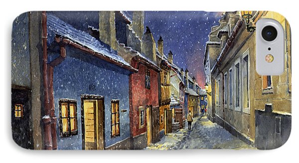 Prague Golden Line Winter Phone Case by Yuriy  Shevchuk