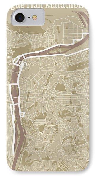 Prague Half Marathon #1 IPhone Case by Big City Artwork