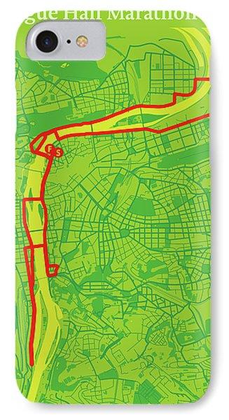 Prague Half Marathon #2 IPhone Case by Big City Artwork