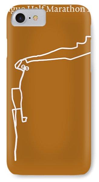 Prague Half Marathon Line IPhone Case by Big City Artwork