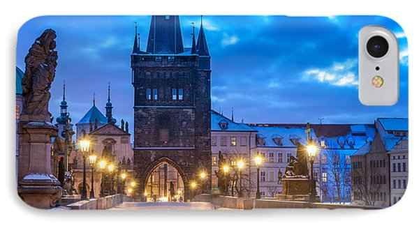 Prague In Blue IPhone Case