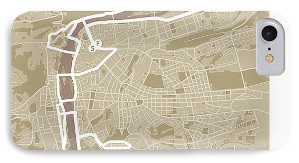 Prague Marathon #1 IPhone Case by Big City Artwork
