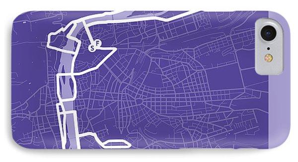 Prague Marathon Purple IPhone Case by Big City Artwork