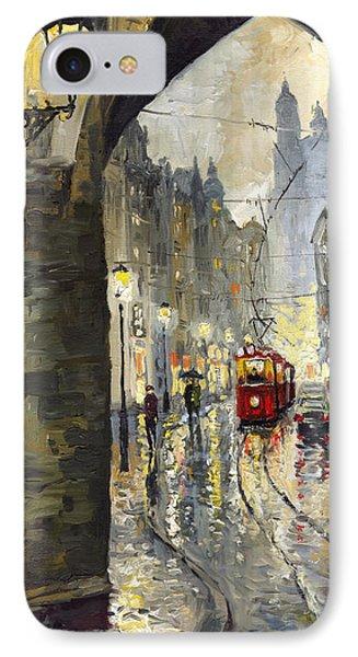 Prague Mostecka Street Phone Case by Yuriy  Shevchuk