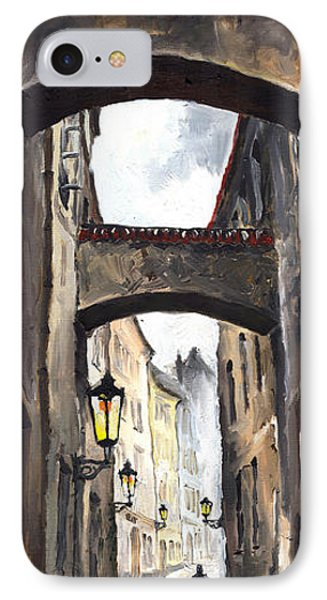 Prague Old Street 02 IPhone Case by Yuriy  Shevchuk