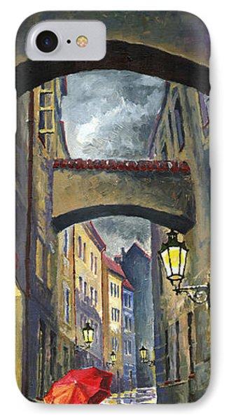 Prague Old Street Love Story IPhone Case by Yuriy  Shevchuk