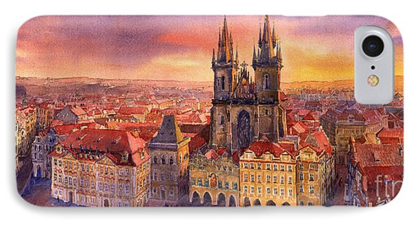 Prague Old Town Square 02 IPhone Case by Yuriy  Shevchuk