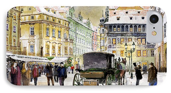 Prague Old Town Square Winter IPhone Case
