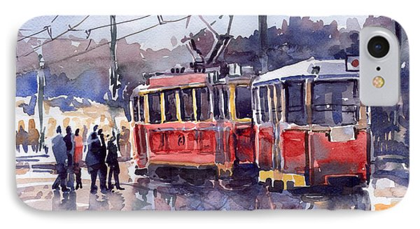 Prague Old Tram 01 Phone Case by Yuriy  Shevchuk