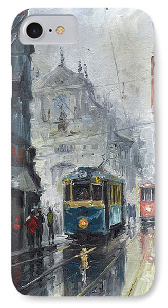Prague Old Tram 04 IPhone Case by Yuriy  Shevchuk