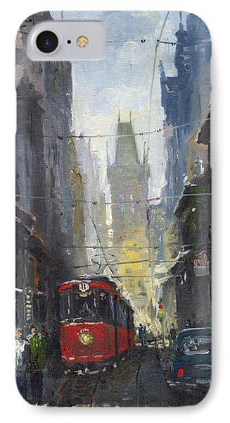 Prague Old Tram 05 IPhone Case by Yuriy  Shevchuk