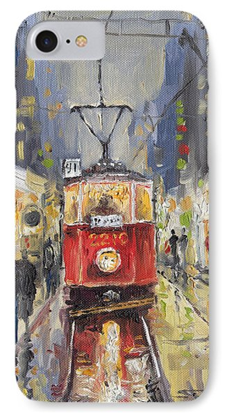 Prague Old Tram 08 IPhone Case by Yuriy  Shevchuk