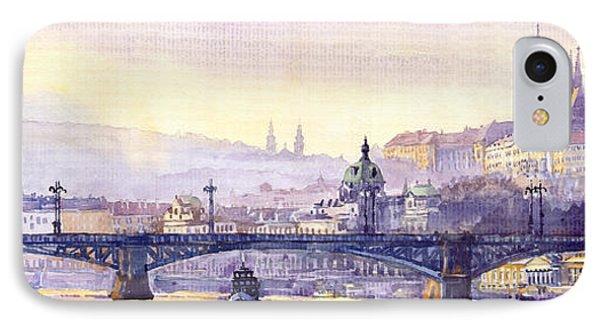 Prague Panorama Chehuv Bridge Phone Case by Yuriy  Shevchuk
