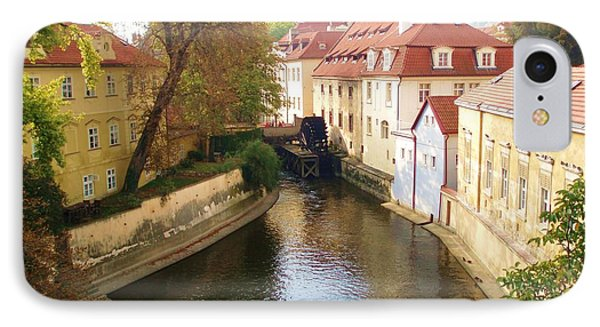 IPhone Case featuring the photograph Prague River Scene by LeAnne Sowa