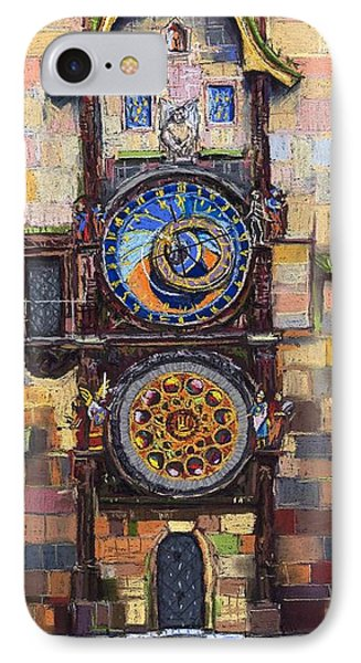 Prague The Horologue At Oldtownhall Phone Case by Yuriy  Shevchuk
