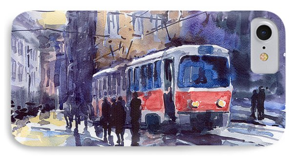 Prague Tram 02 IPhone Case by Yuriy  Shevchuk