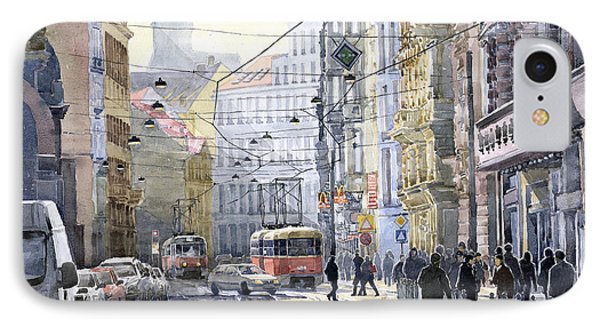 Prague Vodickova Str Phone Case by Yuriy  Shevchuk