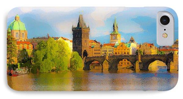 Praha - Prague - Illusions IPhone Case by Tom Cameron