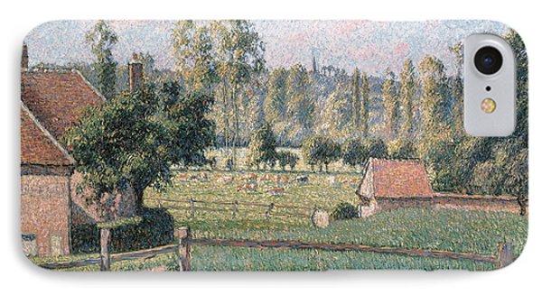 Prairie At Eragny, 1889 IPhone Case by Camille Pissarro