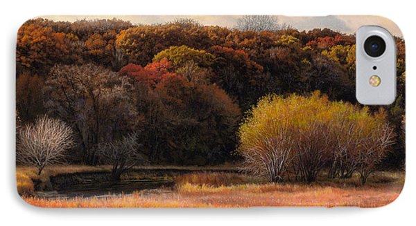 Prairie Autumn Stream Phone Case by Bruce Morrison