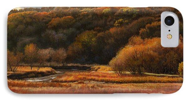 Prairie Autumn Stream No.2 Phone Case by Bruce Morrison