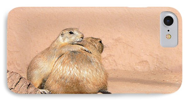 Prairie Dog Friends IPhone Case by Laurel Powell