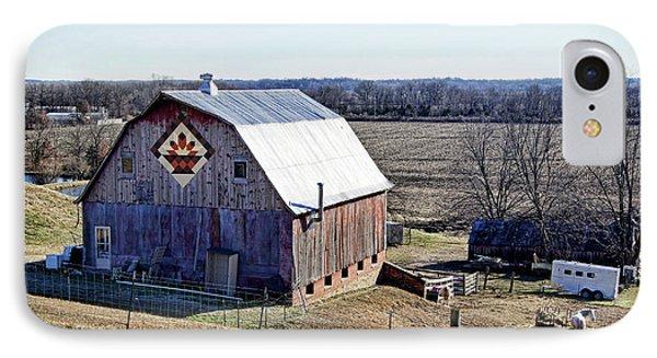 Prairie Flower Quilt Barn IPhone Case by Cricket Hackmann