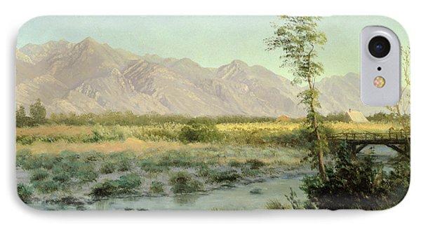 Prairie Landscape IPhone Case by Albert Bierstadt