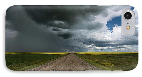 Prairie Summer Road IPhone Case