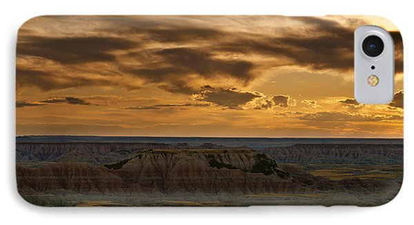 Prairie Wind Overlook Badlands South Dakota Phone Case by Steve Gadomski