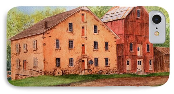 Prallsville Mill IPhone Case by Denise Harty