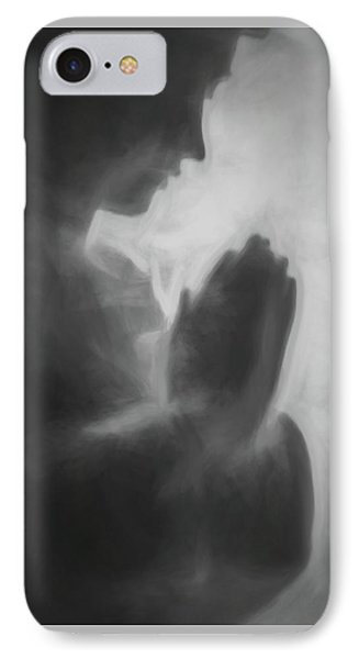 Prayer Black And White IPhone Case by Terry DeLuco
