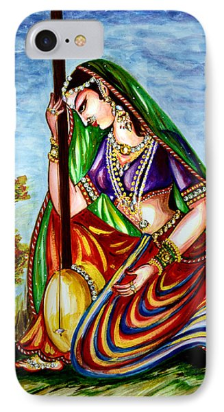 Krishna - Prayer IPhone Case by Harsh Malik