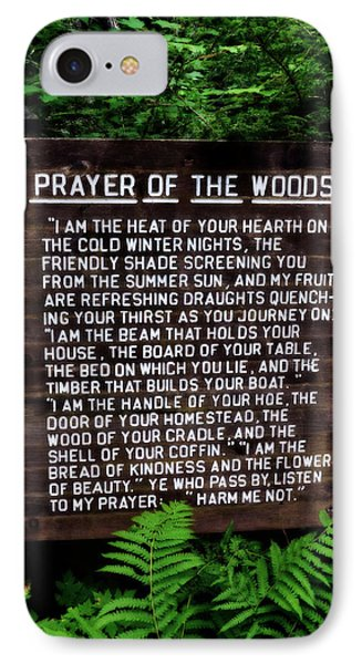 Prayer Of The Woods IPhone Case by Michelle Calkins