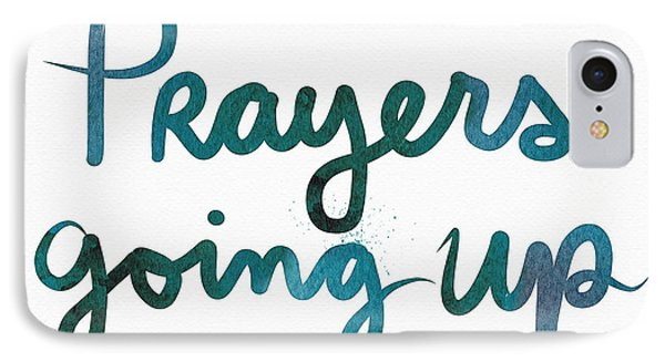 Prayers Going Up- Art By Linda Woods IPhone Case by Linda Woods