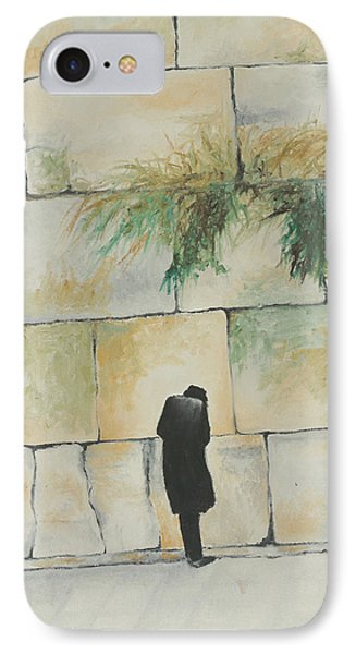 Praying At The Western Wall IPhone Case by Miriam Leah