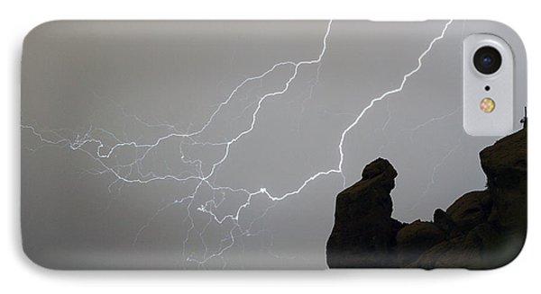 Praying Monk Lightning Striking Poster Print Phone Case by James BO  Insogna