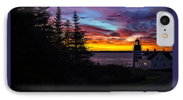 Pre Dawn Light At West Quoddy Head Lighthouse IPhone Case by Marty Saccone