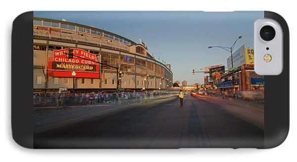 Pre-game Cubs Traffic IPhone Case by Sven Brogren