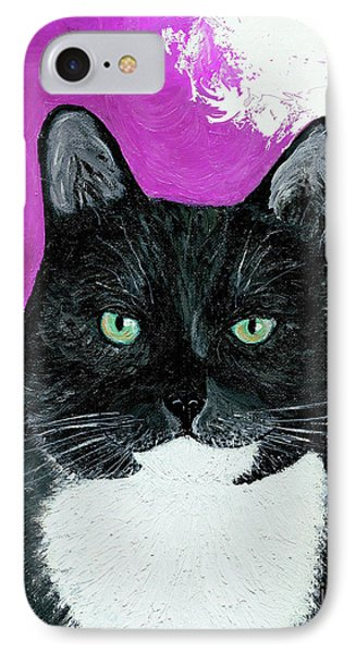 IPhone Case featuring the painting Precious The Kitty by Ania M Milo