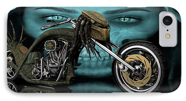 IPhone Case featuring the digital art Predator Chopper by Louis Ferreira