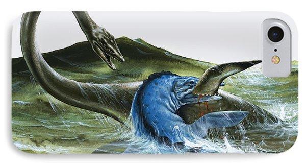 Prehistoric Creatures IPhone Case by David Nockels