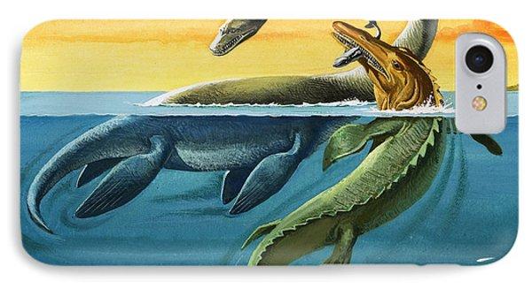 Prehistoric Creatures In The Ocean IPhone 7 Case