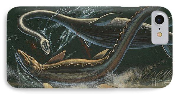 Prehistoric Marine Animals, Underwater View IPhone Case by American School