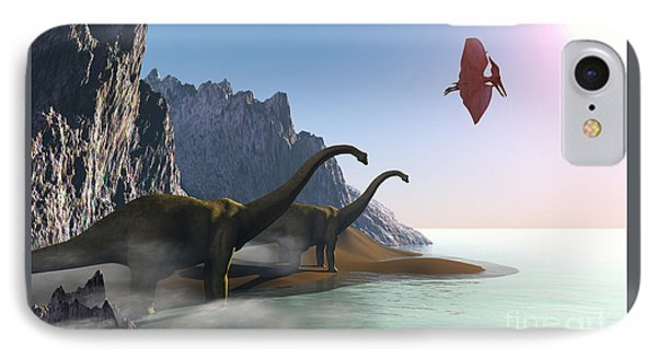 Prehistoric World Phone Case by Corey Ford