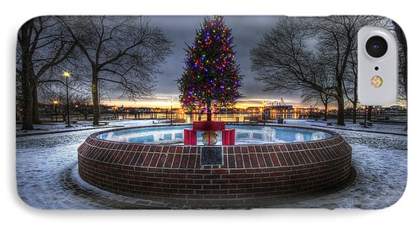 Prescott Park Christmas Tree Phone Case by Eric Gendron