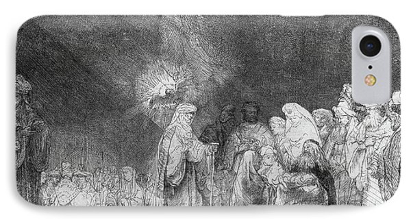 Presentation In The Temple IPhone Case by Rembrandt