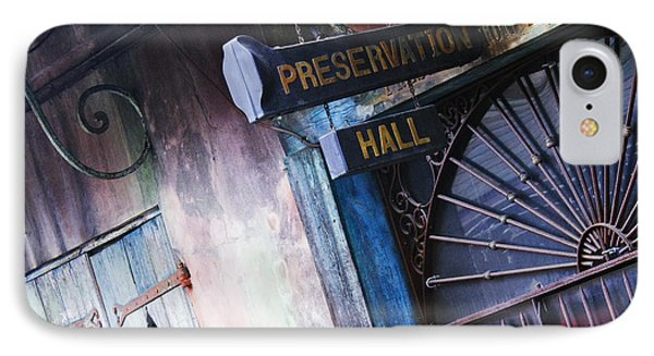 Preservation Hall Sign Phone Case by Jeremy Woodhouse
